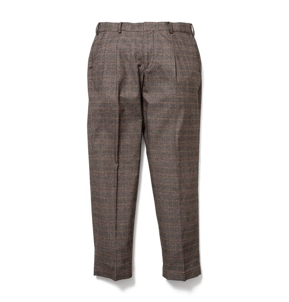 Check wide tack pants(CHECK BROWN)