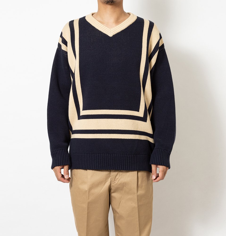 SQUARE KNIT(NAVY)
