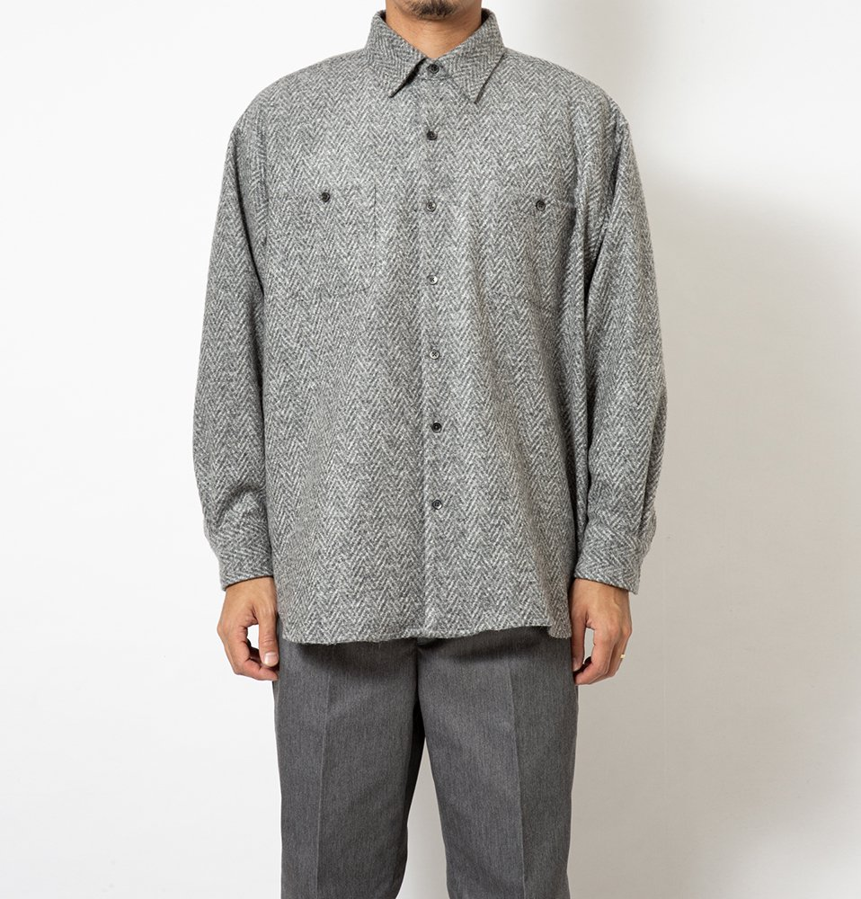 Big Herrignbone Shirt(GRAY)