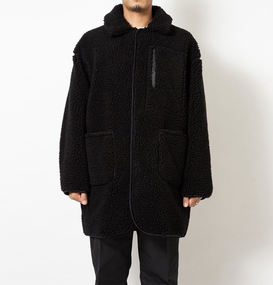 FLEECE COAT(BLACK)