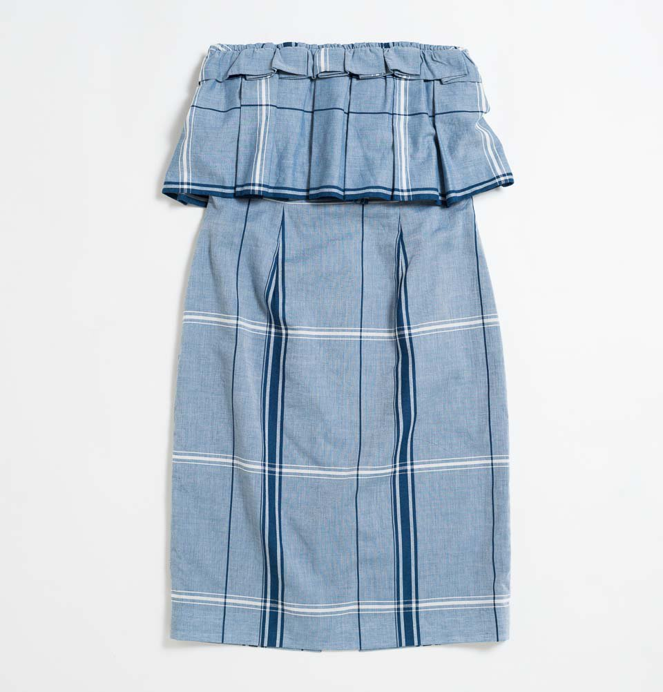 CHEAK DRESS(BLUE CHECK)