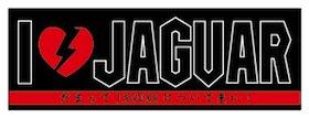 JAGUARさんステッカー I♡JAGUAR 【だまってJAGUARについて来い!】(黒)