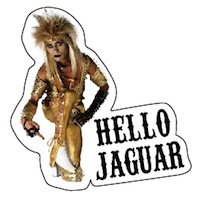 JAGUARさんステッカー HELLO JAGUAR(ダイカット)
