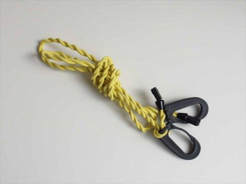 屋外で:洗濯ロープ