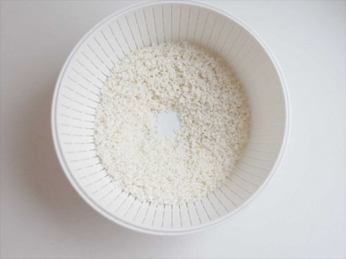 kitchen:米とぎザルとボウル