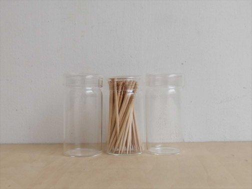 飲食に:ガラスようじ容器