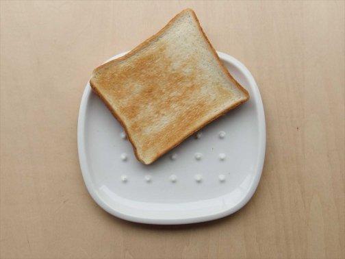 飲食に:白磁トースト皿
