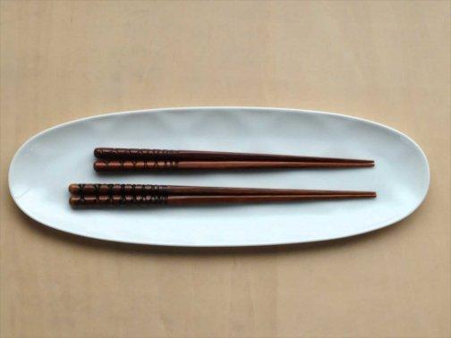 亀甲削り箸