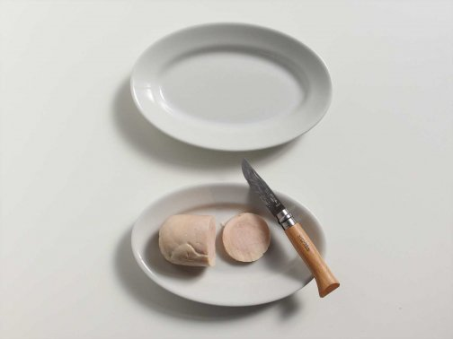 白い業務用皿/オーバル