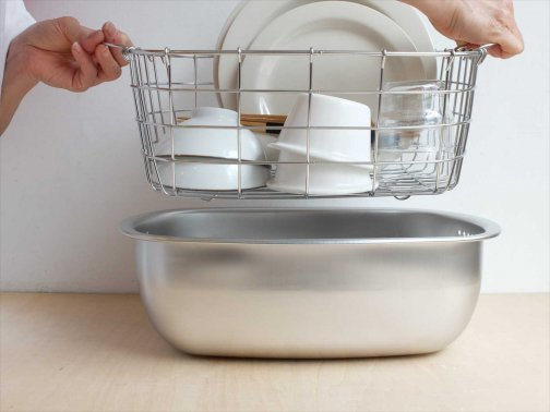 kitchen:洗い桶用水切りカゴ