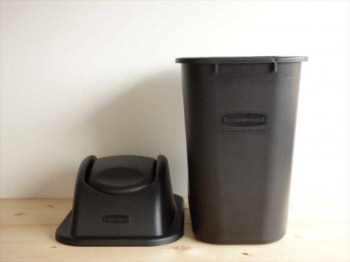 黒いゴミ箱