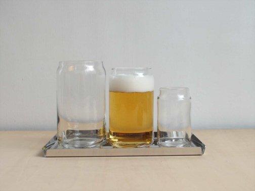 飲食に:缶グラス