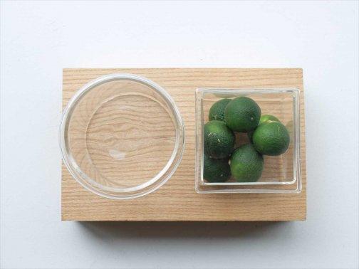 飲食に:フタ付ガラス器