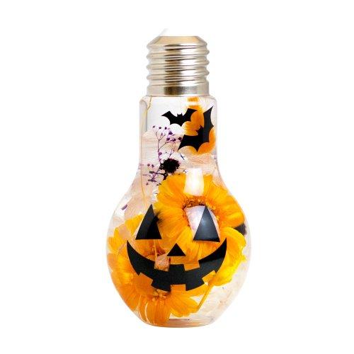 LEDランプ付きハーバリウム~ハロウィンVer.~