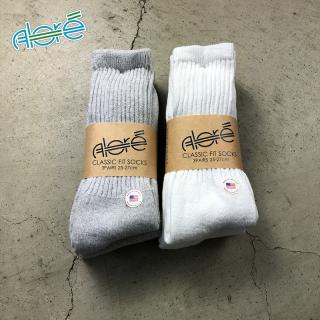 【Alore】 Made in U.S.A.    3pcs   Crew Socks  [2カラー×2サイズ]