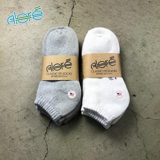 【Alore】 Made in U.S.A.    3pcs   Short Socks  [2カラー×2サイズ]