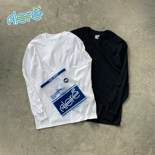 【Alore】 2pcs Pack Long Sleeve Tee WHT×BLK [1カラー×3サイズ]