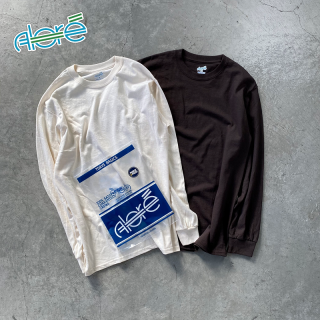 【Alore】 2pcs Pack Long Sleeve Tee Choco×Natural [1カラー×3サイズ]