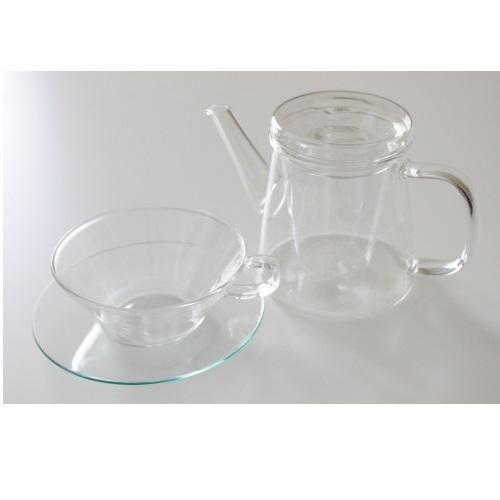 ガラスティーカップ&ソーサーLV