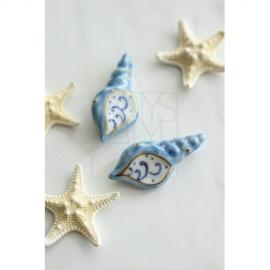 【清水焼】お箸置き5個セット/貝殻