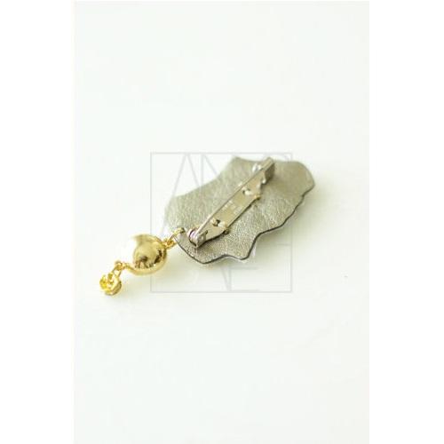 刺繍ブローチ/香水瓶