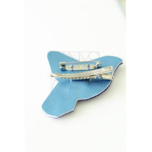 【50%OFF】刺繍ブローチ/青い鳥