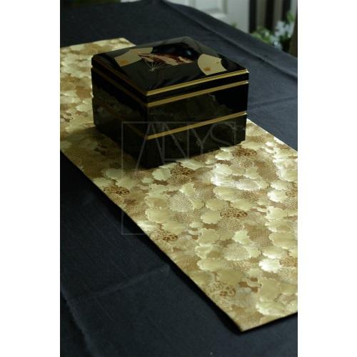 西陣織テーブルランナーマット ゴールド