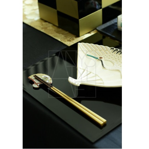 【清水焼】お箸置き2個セット/風神雷神