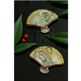 【清水焼】箸置2個セット/風神雷神