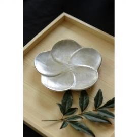 銀彩 梅小皿