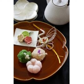 飴釉梅鉢皿