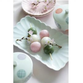 【有田焼】白磁/菊割焼物皿