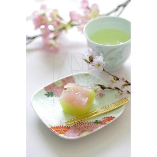 【有田焼】錦菊花尽くし 丸正角銘々皿
