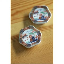 【有田焼】色絵山水 箸置2個セット