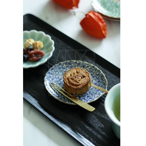 【30%OFF有田焼】蛸唐草 葉型小皿 青/緑