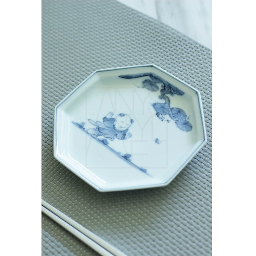 【三川内焼】唐子 八角銘々皿5柄セット