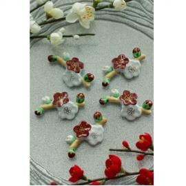【清水焼】お箸置き5個セット/梅が枝