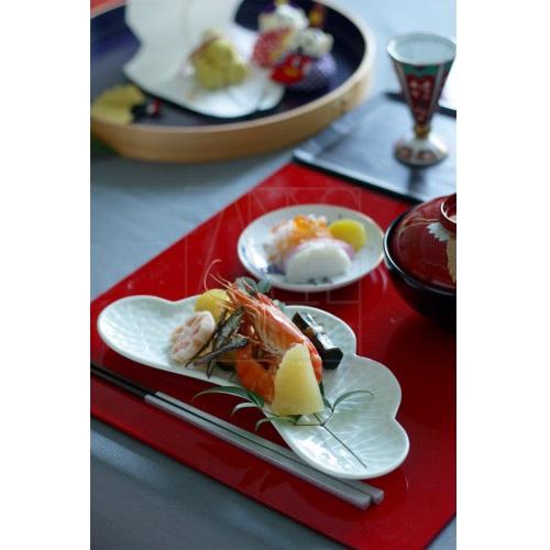 【有田焼】松葉型前菜皿 ホワイト