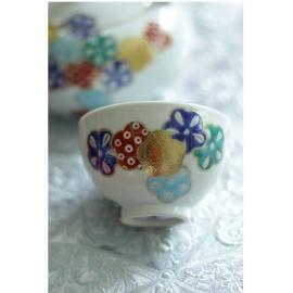 【清水焼】花紋茶器5つセット