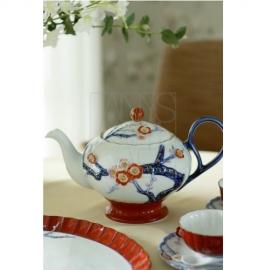 【有田焼】梅彫り装飾ポット