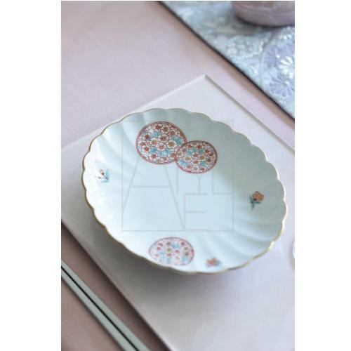 【有田焼】花オーバル 銘々皿