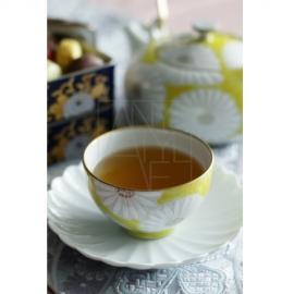 【清水焼】菊黄茶器5客セット