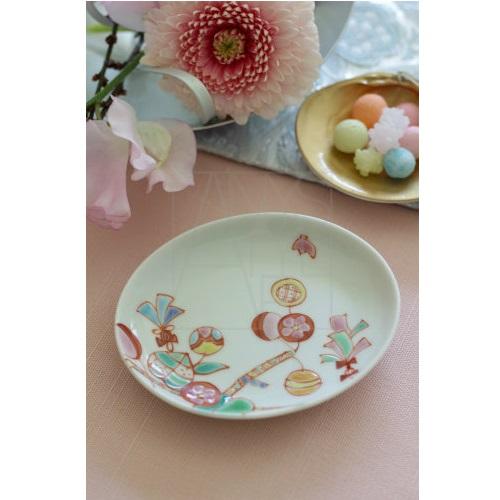 【九谷焼】楕円小皿/マジカルベリー
