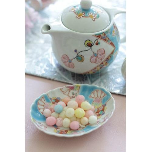 【九谷焼】楕円小皿/ブルーフラワー