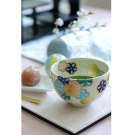 【清水焼】花紋 小茶碗