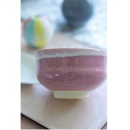 【清水焼】小茶碗/ピンク