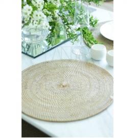 ラウンドテーブルマット/ホワイト