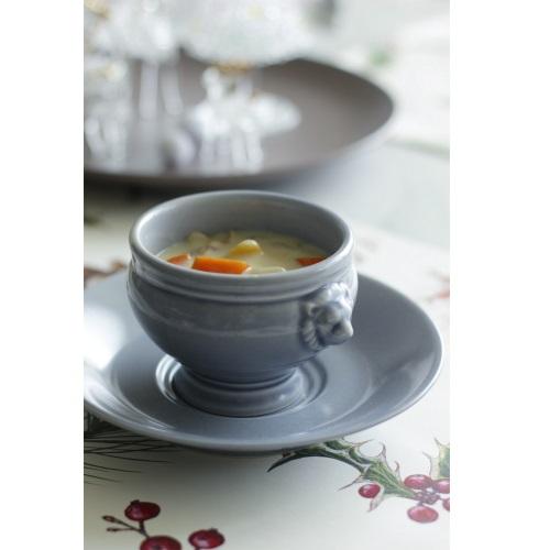スープカップ&ソーサー/グレー