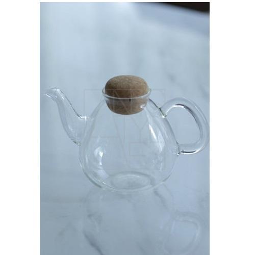 耐熱ガラス&コルク ティーポット450ml