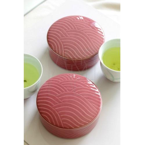 【美濃焼】丸蓋器 ピンク